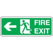 Safe Safety Sign - Fire Exit Door Left 104